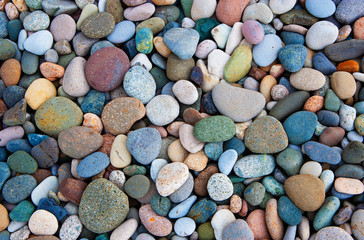 Colorful pebbles, full frame