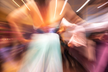 Motion picture of the Ballroom dancing