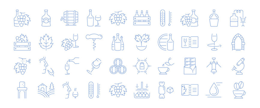 Set of Icons of Cognac