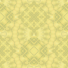 Seamless abstract geometrical ornament pattern yellow