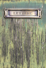 Old italian mailslot