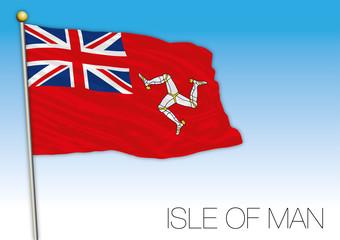 Isle of Man civil flag, United Kingdom, vector illustration