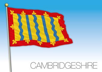 Cambridgeshire flag, United Kingdom, vector illustration