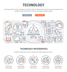 Vector Banner of Technology.