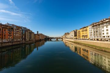 Arno River and Santa Trinita Bridge - Florence Italy
