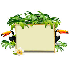 Vector Tropical Frame with Toucan