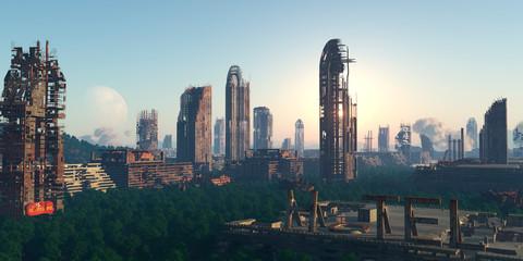City in ruins