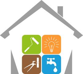 Haus und Werkzeuge, Hausmeister, Hausmeister Service, Logo