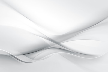 Abstract White Wave Design Background