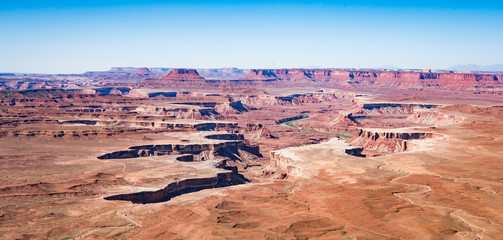Green River Overlook Canyon Lands National park in Utah United States of America
