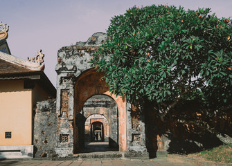 An entrance in Imperial City, Hue, Viet Nam