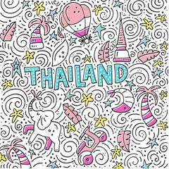 Thailand Symbols Illustration