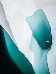 Aerial photo of an iceberg in the Arctic