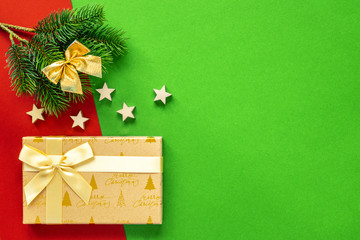 Christmas decoration background with complementary colors