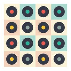 Vinyl records seamless pattern