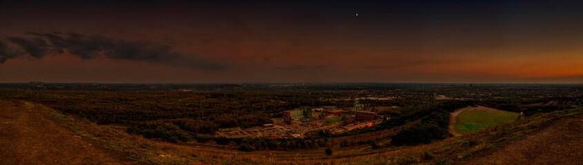 View in the Ruhr Area in the Moonlight