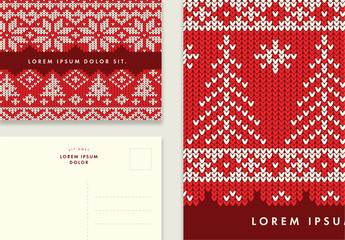 Postcard Layouts with Knitted Textures