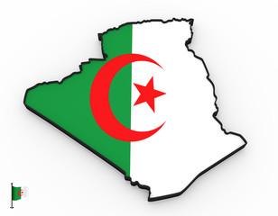Algeria high detailed 3D map