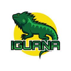 iguana logo for your business, vector illustration