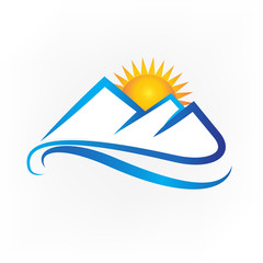 Logo mountains icon logotype vector