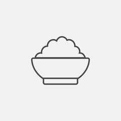 Cereal bowl line vector iconnt
