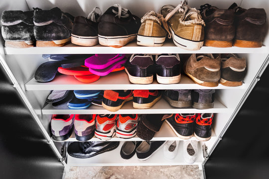 shoe rack man sneakers