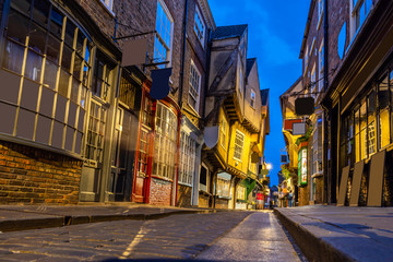 York shambles sunset
