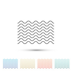Waves icon isolated on white background. Set elements in colored icons. Flat design. Vector Illustration
