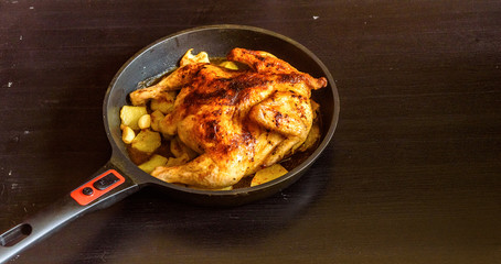 whole grilled chicken