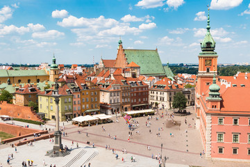 Warsaw Poland. View of the city.