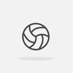 volleyball vector icon with shadow sports and recreation icon
