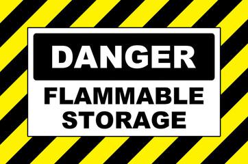 danger flammable storage warning placard board
