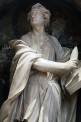 Saint Luke the Evangelist, statue in Zagreb cathedral dedicated to the Assumption of Mary