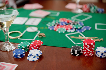 Chips on game table (normal version)