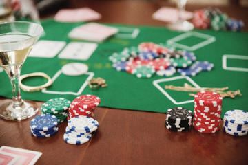 Chips on game table (ancient version)