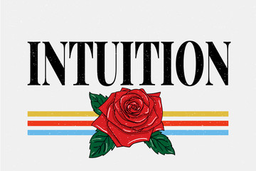 slogan Intuition phrase graphic vector Print Fashion lettering calligraphy