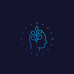 personal growth vector line icon