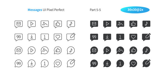 Messages UI Pixel Perfect Well-crafted Vector Thin Line And Solid Icons 30 2x Grid for Web Graphics and Apps. Simple Minimal Pictogram Part 5-5