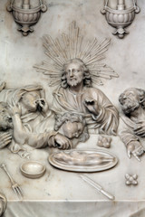Altar of the Last Supper in Zagreb cathedral dedicated to the Assumption of Mary