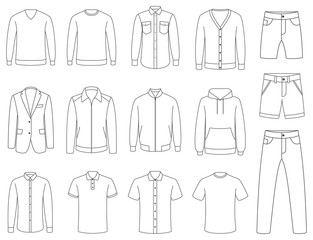 Clothes. Mens clothing vector