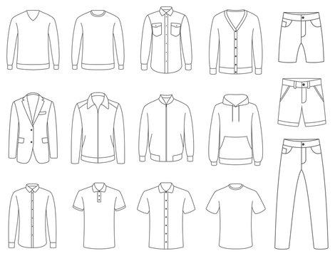 Clothes. Mens clothing vector