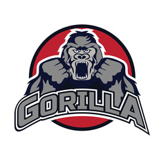 gorilla logo on white background,  vector illustration