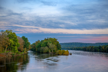 Foto op Canvas Rivier Delaware River Morning