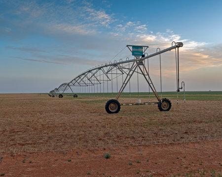 Cotton Field Irrigation near Seminole Texas