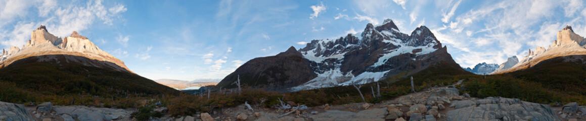 Torres del Paine, parque nacional, Chili, 360°