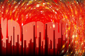 Blood City Abstract Backdrop
