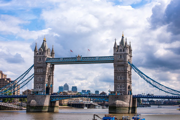 Tower bridge in a sunny day in London