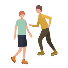 men with roller skates avatar character