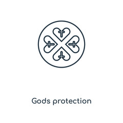 gods protection icon vector