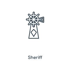 sheriff icon vector